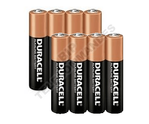 Pack piles Duracell  AAA