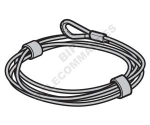 Câble d'acier HÖRMANN Ø 4 mm 3095589 10 m