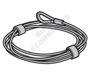 Câble d'acier HÖRMANN Ø 3 mm L = 6250 3064362